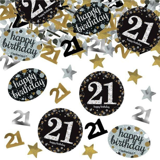 Amscan Gold Sparkling Celebration Confetti Age 21