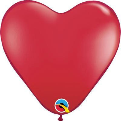 "Qualatex 50 15"" heart ruby red"