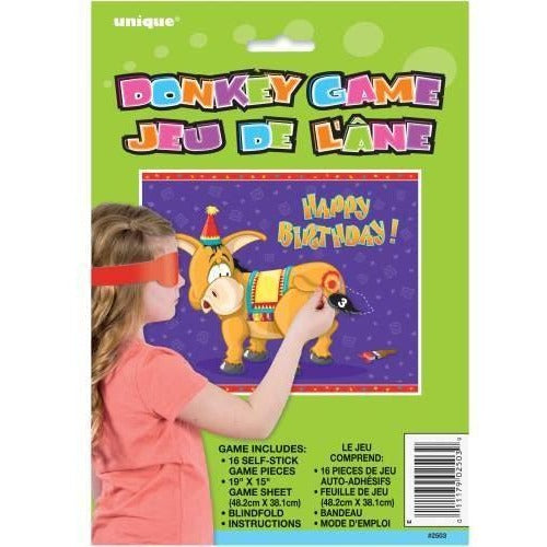 Deluxe Pin the Tail on the Donkey Party Game