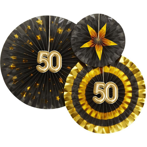 Glitz and Glamour Black Pinwheels Age 50