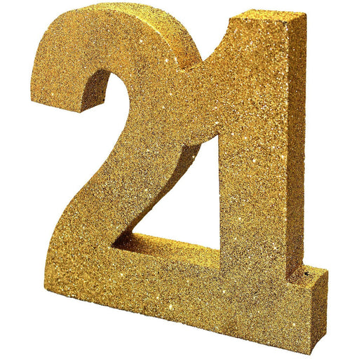 Gold Glitter Table Decoration Number 21