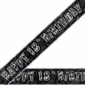 Glitz Black 18th Foil Banner (special price of 30p)