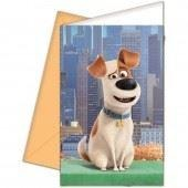 INVITATIONS & ENVELOPES 6CT,  THE SECRET LIFE OF PETS