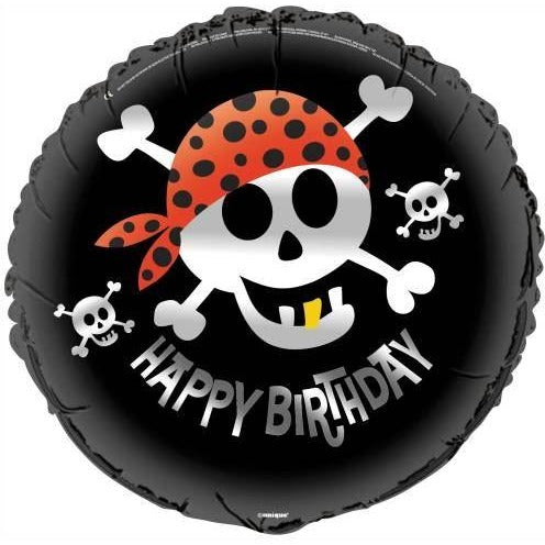"Pirate Fun Round Foil Balloon 18"", Packaged"