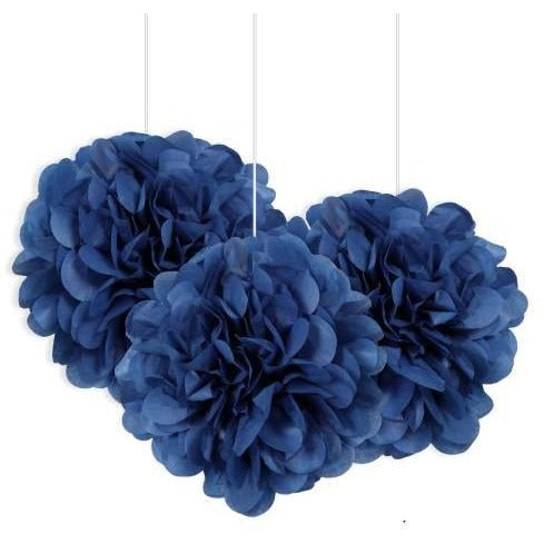 "Blue Mini 9"" Puff Tissue Decorations  (Also Upstairs)"