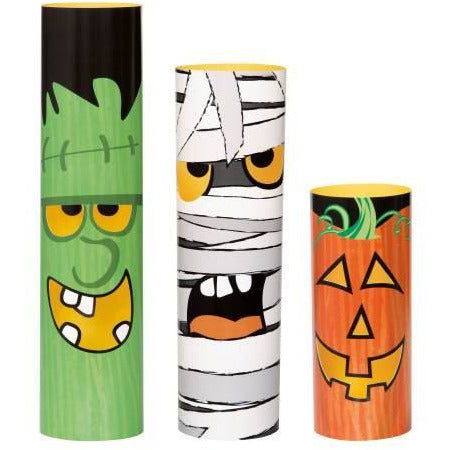Assorted Halloween Monsters Cylinder Centerpieces, 3ct