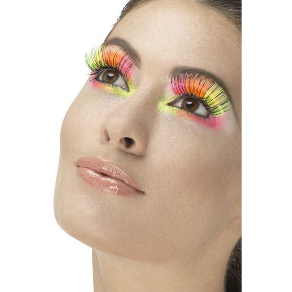 Smiffys 80's Neon Multicoloured Eyelashes