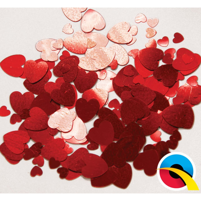CONFETTI RED HEARTS
