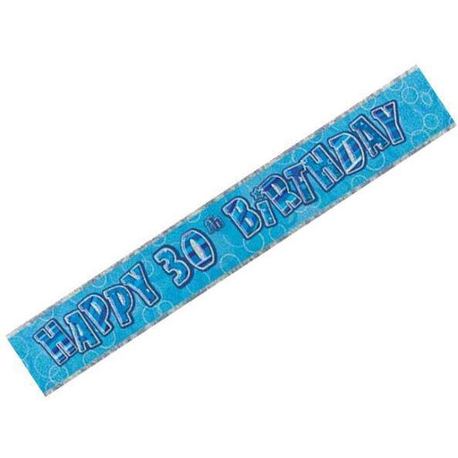 Glitz Blue 30th Foil Banner (9ft) (special price of 30p) (Also Upstairs)