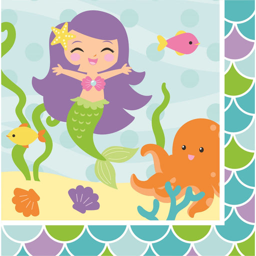 Mermaid Friends Lunch Napkins 2ply