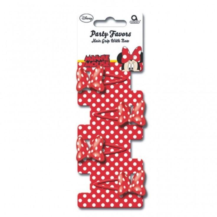 Minnie Mouse 4 Bow Grips (Red)