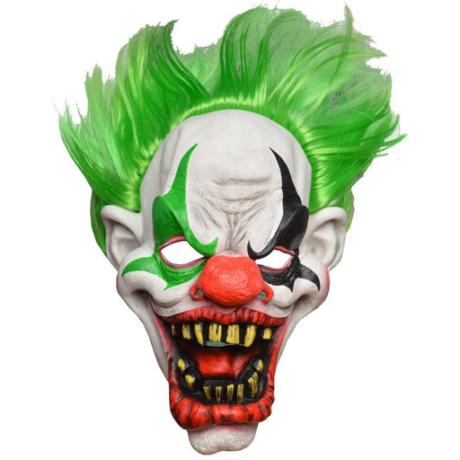 Halloween Clown Horror Mask Green Hair