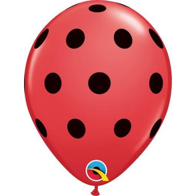 "05""  RND  RED            100CT BIG POLKA DOTS (BLK)"