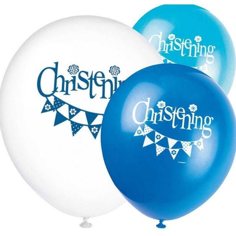 Unique boy christening latex balloons