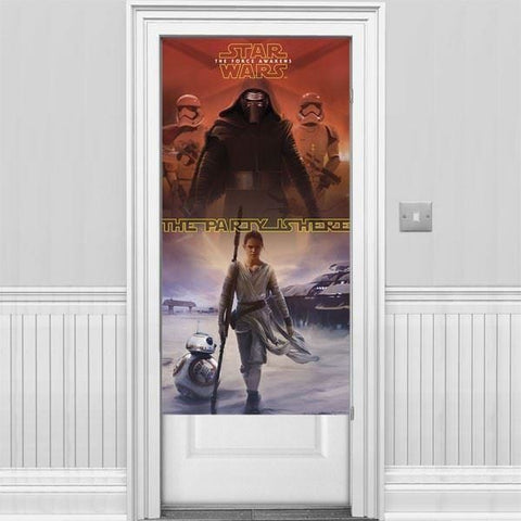 DOOR BANNER 1CT,  STAR WARS THE FORCE AWAKENS