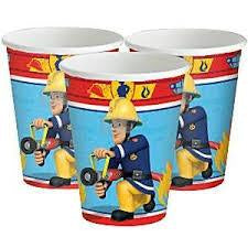Fireman Sam Cup 266ml pack of 8