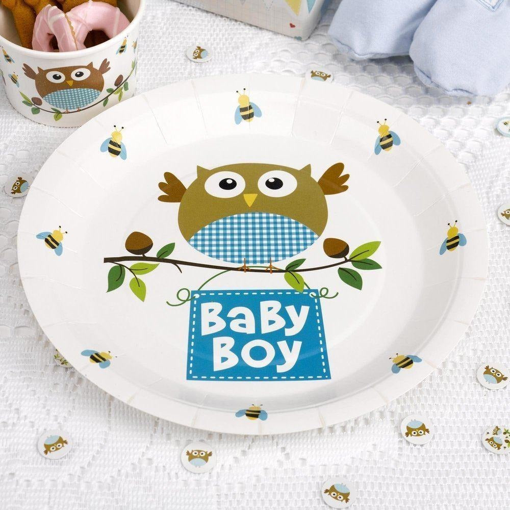 Little Owls - Baby Boy Plate - 8
