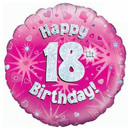 Oaktree Pink Birthday Balloon 18th