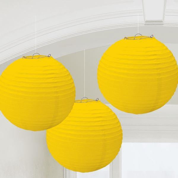 LANTERNS ROUND YELLOW SNSHN