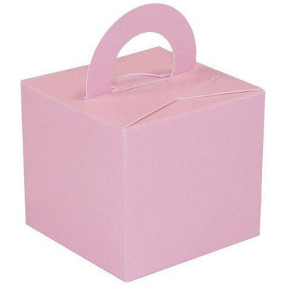 5 Single Cake Box Balloon Weights Pink