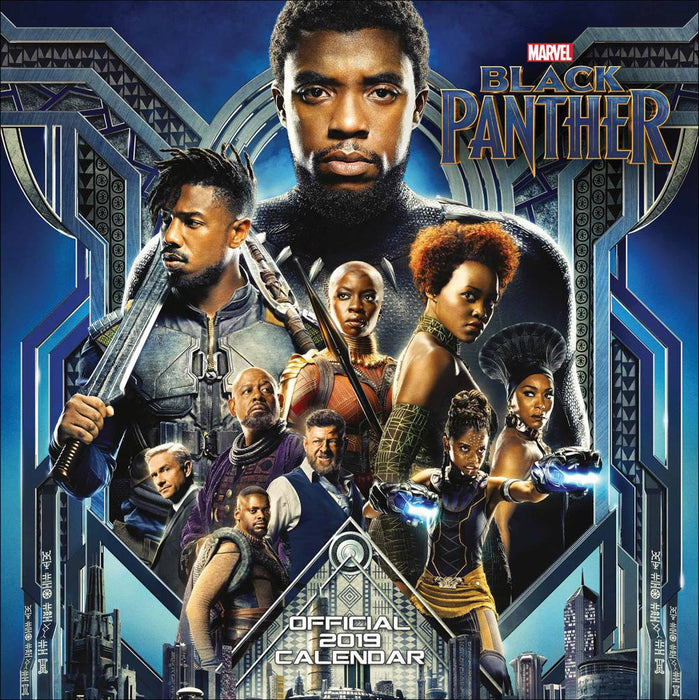 2019 Official Calendar Square Black Panther