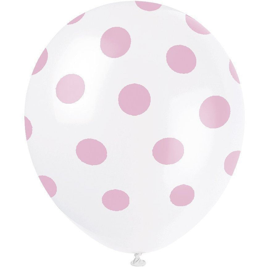 Lovely Pink Dots Latex Balloons