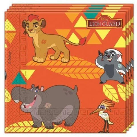 NAPKINS PAPER TWO-PLY 20CT,  LION GUARD