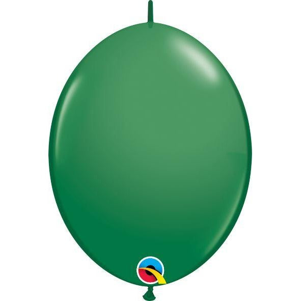"12"" QLINK GREEN           50CT QUALATEX QUICK LINK BALLOONS"
