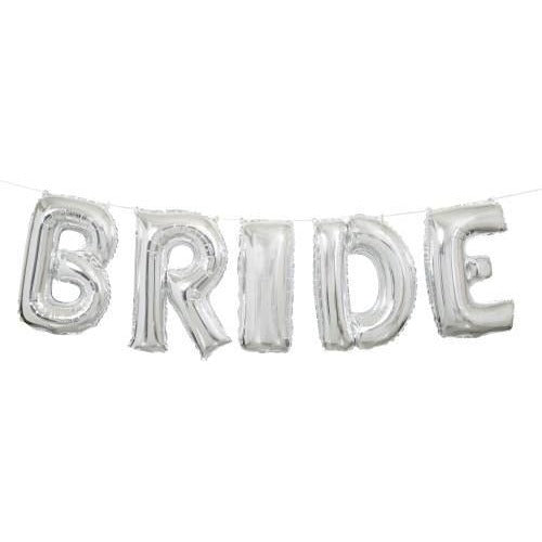 "14"" Silver Bride Balloon Banner Kit"
