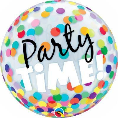 "22""  SINGLE BUBBLE        01CT,  PARTY TIME! COLORFUL DOTS"