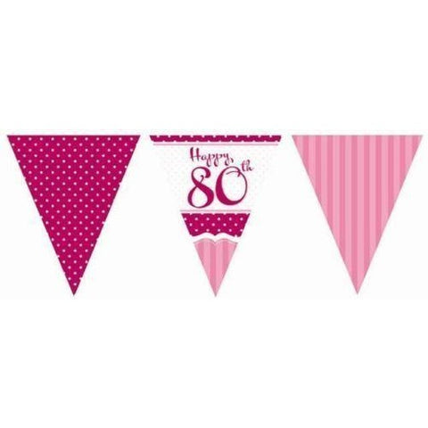 Perfectly Pink Bunting 80th