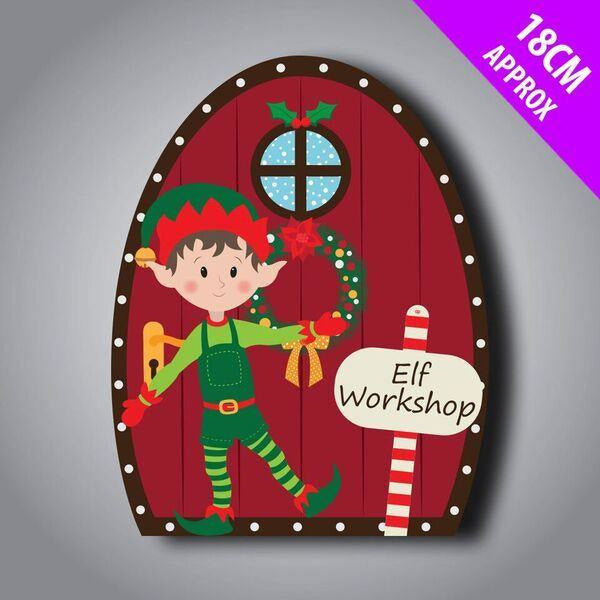 Elf Door Hanger Davies Christmas