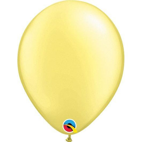 "11""  RND  PRL LEMON CHF   25CT,  QUALATEX PLAIN LATEX"