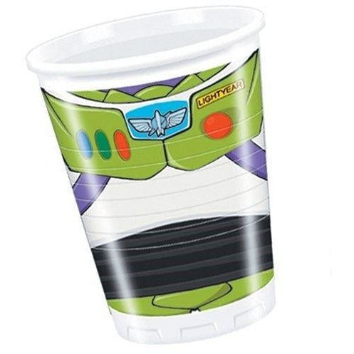 CUPS PLASTIC 200ML 8CT,  TOY STORY STAR POWER