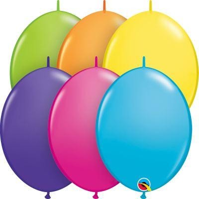 "12"" QLINK TROPICAL AST    50CT QUALATEX QUICK LINK BALLOONS"
