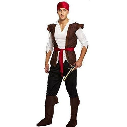 Adults Pirate Caribbean Costume Henbrandt