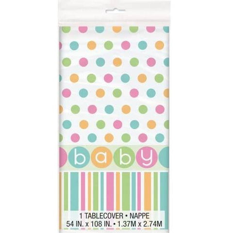 Polka Dot baby shower Tablecover
