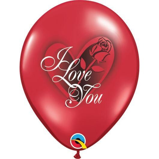 QX 11R 06CT PRINT RETAIL PKG I LOVE YOU RED ROSE