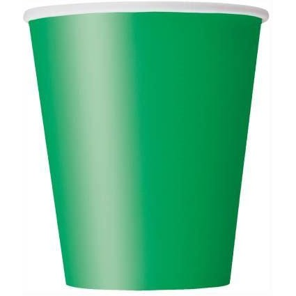 8 Emerald Green 9 oz. Cups