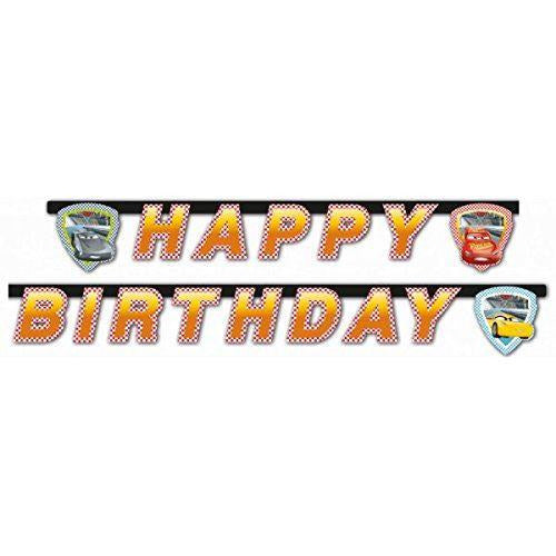 Cars 3 Happy Birthday Letter Banner - Procos