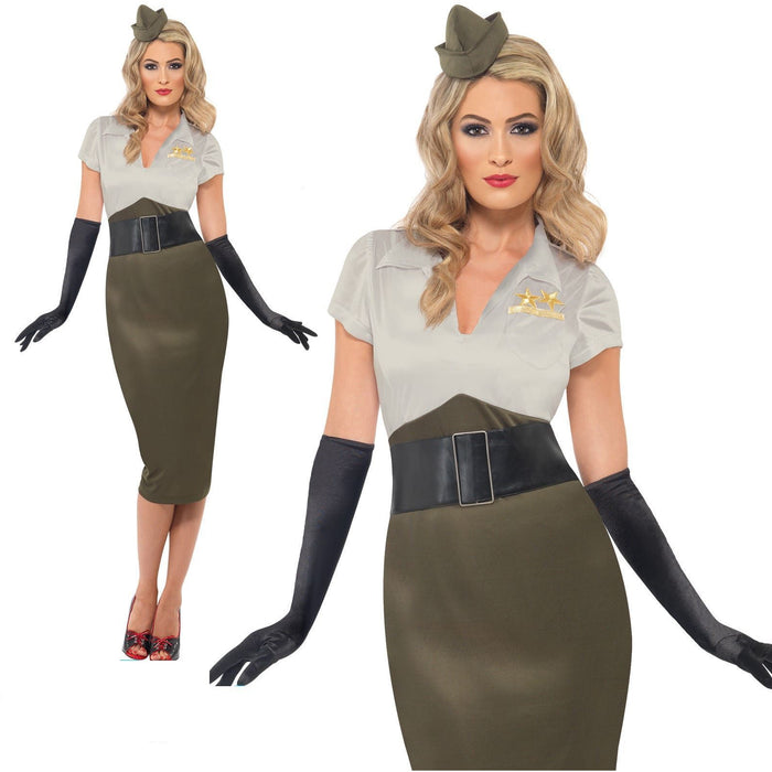 Smiffys WW2 Army Pin Up Spice Darling Costume Medium