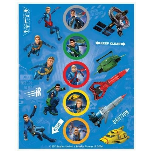 4 Thunderbirds Sticker Sheet