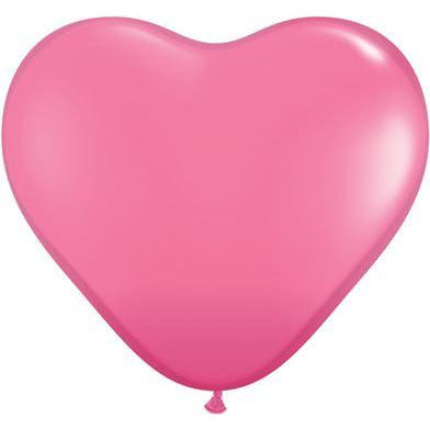 "Qualatex 6"" Rose Heart Latex Balloons X100"