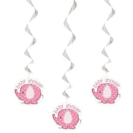 Umbrellaphants Hanging Swirl decoration Pink