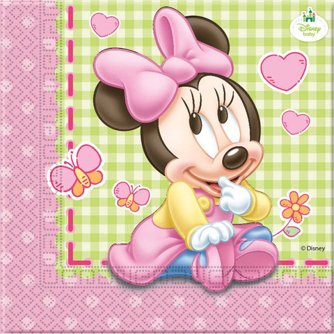 Baby Minnie Napkins (end of line) do not order (CLR:3)