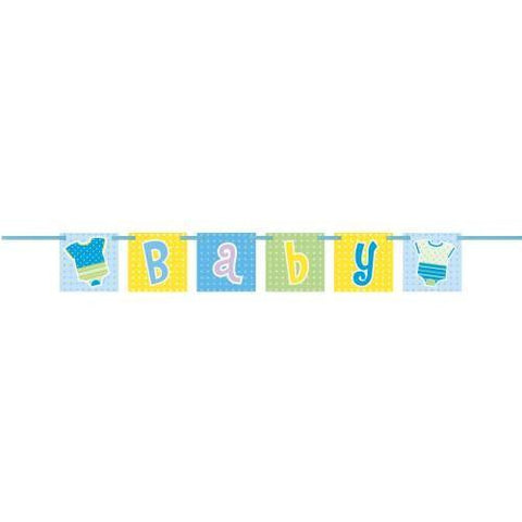 Blue Baby Polka Dot Square Banner Unique- sell off