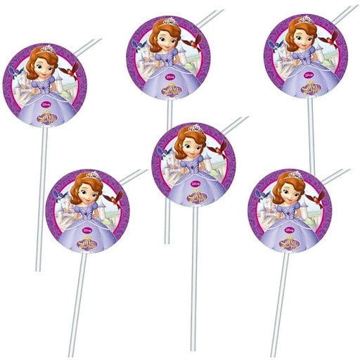 DRINKING STRAWS 6CT SOFIA THE FIRST - END OF LINE