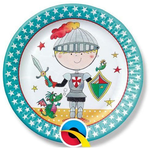 PARTY PAPER PLATES 8CT,  RE-KNIGHT PAPER PLATES