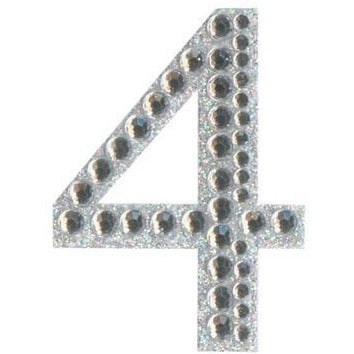 Eleganza Stickers - Silver Number 4