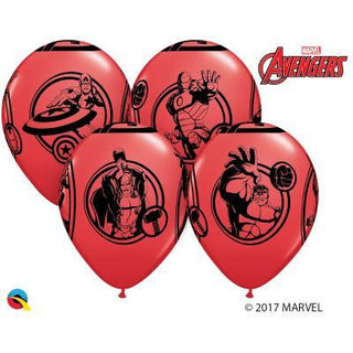 12'' Avengers Red Latex Balloons Retail Pack